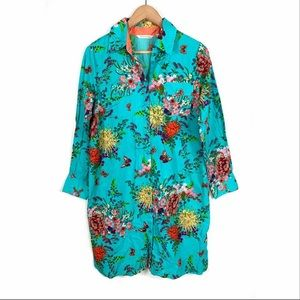 Soft Surroundings Spring Time Dress Floral Small
